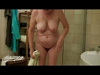 Pierced Granny in the Shower