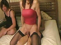 Jasmine does two other tgirls pt12