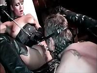 Elena Nix gets nailed from behind when working on this cock