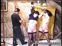 Two slave girls punished with clothpins