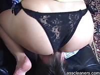Horny man even pays mistress just to lick her ass hole