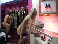British Slut Syren Sexton And Her Friend Fuck In A Shop