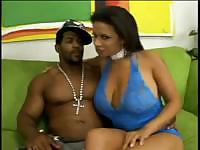 Sexy and busty whore goes in for some interracial heavy fucking