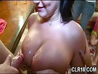 Getting pounded on the floor