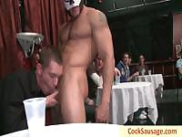 Really wild gay porn sausage party by cocksausage