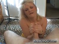 Nasty mom shows her juggs and sucks cock part5