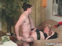 Chubby mature slut get fucked by two part4