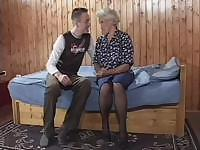 Young guy agrees on something really extraordinary - to fuck old lady