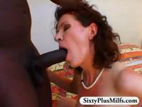 Granny bush fucked by black stud