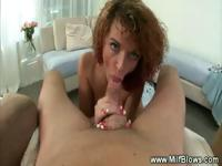 Big breasted milf loves to suck cock