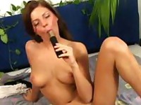 young sexy chick fingre her pinky