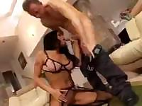 Lanny Barbie takes the hard cock in her pussy and her ass