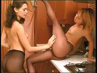 Two amateur lesbians are teasing each other on camera for fun