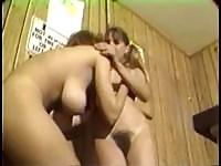 Two lesbian babes are exploring their bodies and getting to it