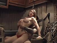 Older gal likes sucking on the cock before putting it in her ass