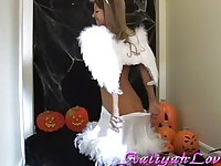 Hot Halloween photoshoot w Aaliyah Love