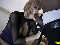 Two sluts and two big black cocks to fuck hard