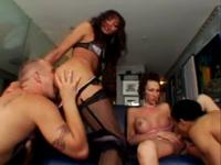 Two Tranny's And 2 Guys Go At It