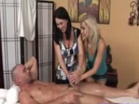 Amazing 3some Action in The Massage Parlor