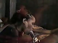 Black chick gives great head and takes cock