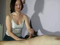 Hot wife giving amateur handjobs in compilation