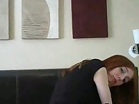 Redhead gets facials from two guys
