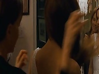 Natalie Portman masturbates in bed. Then we see Natalie Portman and Mila Kunis making out passionately as Mila goes down on Natalie and giving her oral sex until Natalie reaches orgasm in this lesbian scene. From Black Swan.