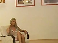 Tight blonde euro babe suck and swallow
