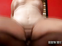 Is she getting anal pain? She screaming so laud! Face, neck, fat tits everything covered by sperm from black dick