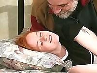 Nipple pain for chubby bondage redhead