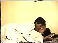 Indian couple fooling around in the bed