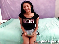 Charming young black girlfriend Tyra More