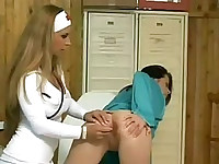 Lesbian nurse and sexy patient have sex