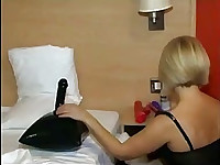She uses dildos in hotel room