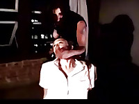 gagged and bound to the chair young lesbian also gagged