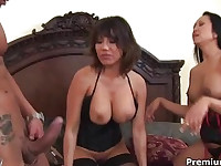 Milfs getting crazy with hard meat