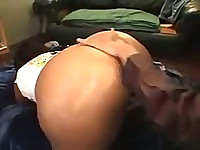 Huge black ass looks amazing during sex