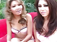 Lana Croft and Britney Stevens  have a specialization only for interracial threesome