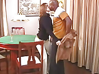 horny house wife making drunk black fireplace fixing guy to fuck him up