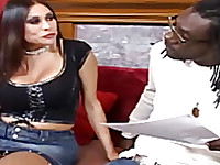Sheila Marie getting interview with black guy, interracial pounding