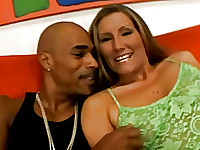 hot white America milf about to fuck with this black guy