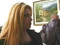 So cold in Chicago winter days, so sexy blonde cougar invited black guy to warm her up!