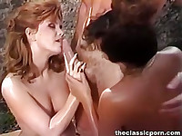 Lucky dude worshiped by two girls