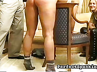 More than red, spankmaster brings welts to both these lovelies.
