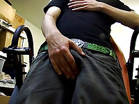 Horny Teen Jerking At Work