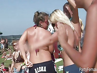 Young Babes Flash Tits At Spring Break Party