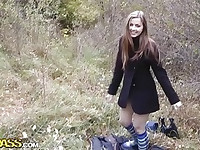 Cute teen in half hose fucking
