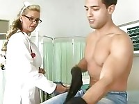 Nob loving nurse Phoenix Marie gives her twat some deep cock consultation
