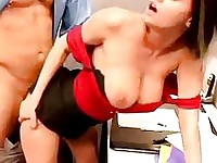 Bootylicious babe Nikki Grind getting boned on her twat from her sexy back
