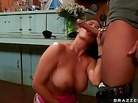 Vanilla DeVille rips her mouth with an awesome cock